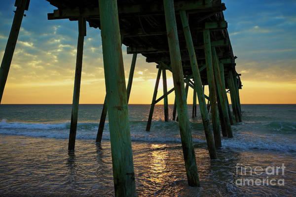 Photograph - The Sun Also Rises - Crystal Pier, Wrightsville Beach, North Carolina by Sam Antonio Photography