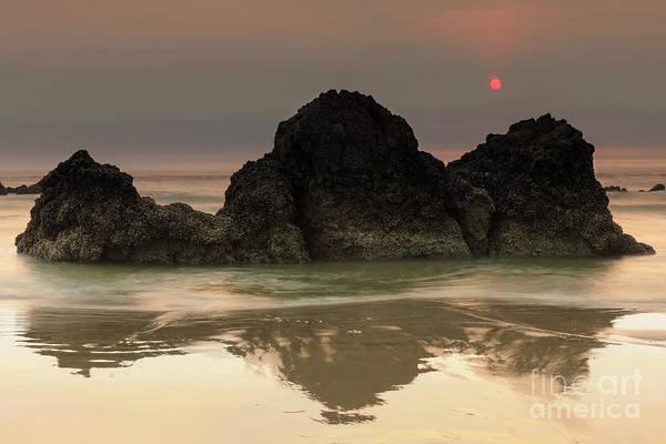 Hard Rock Photograph - The Sun And Rocks by Masako Metz