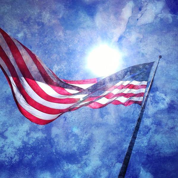 Photograph - The Sun And The Flag by Michelle Calkins