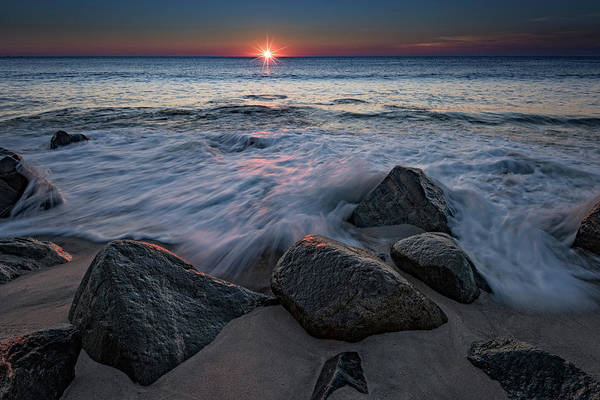 Down The Shore Photograph - The Sun And The Tide by Rick Berk