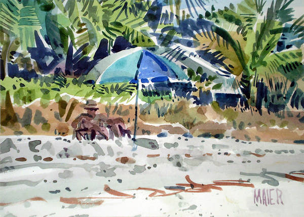 Captiva Island Painting - The Sun Bather by Donald Maier