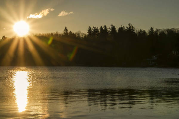 Wall Art - Photograph - The Sun Comes Up On Boulder Lake by Bill Cannon