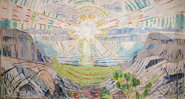 Norwegian Painting - The Sun by Edvard Munch