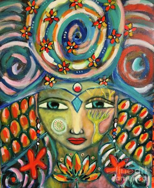 Painting - The Sun Goddess  by Corina Stupu Thomas