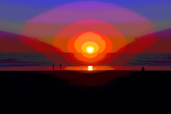 Photograph - The Sun Goes Down At Rockaway Beach by Ben Upham III