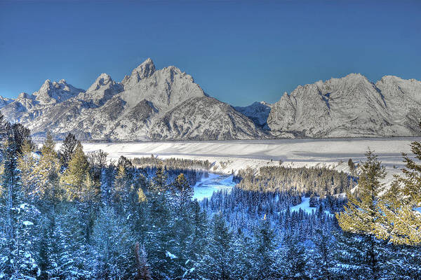 Photograph - The Sun Rising On The Tetons by Don Mercer