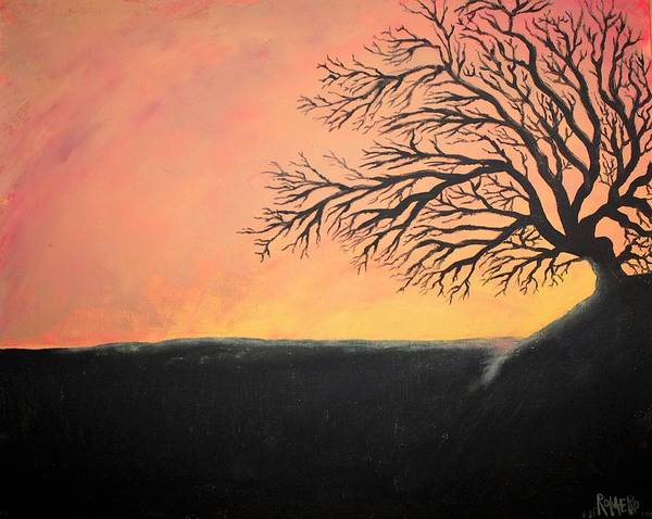 Wall Art - Painting - The Sun Was Set by Antonio Romero
