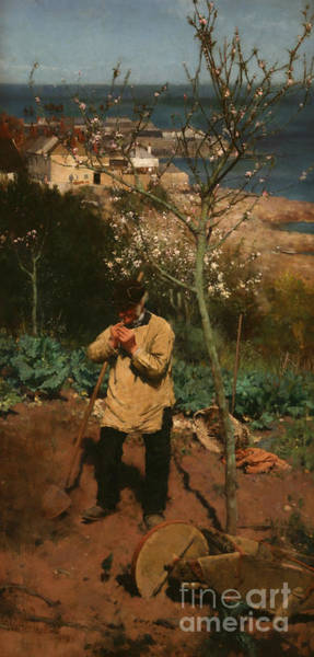 Newlyn Painting - The Sunny South by Walter Langley