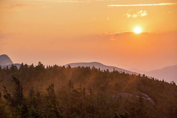 Photograph - The Sunrise From Phelps Mountain Summit In The Adirondacks Sun Rising Over The Clouds 2 by Toby McGuire