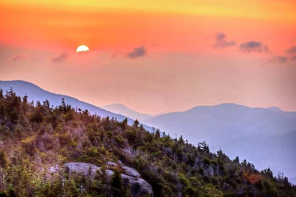 Photograph - The Sunrise From Phelps Mountain Summit In The Adirondacks Sun Rising Over The Clouds by Toby McGuire