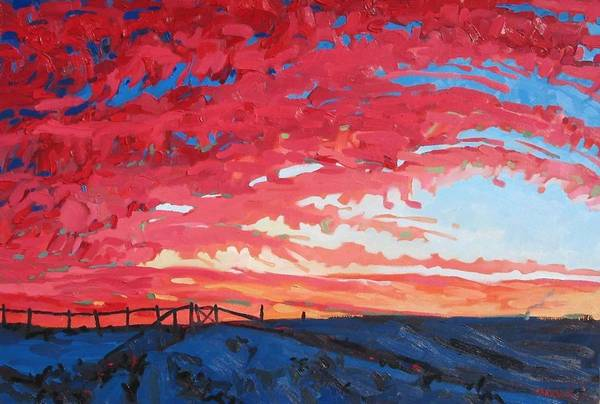 Watershed Painting - The Sunset Before by Phil Chadwick