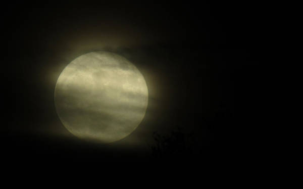 Photograph - The Super Moon Clouds 3 by Robert Knight