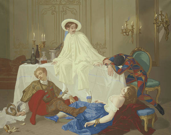 Drunk Painting - The Supper After The Masked Ball by Thomas Couture
