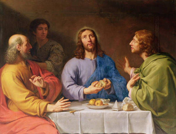 Feast Painting - The Supper At Emmaus by Philippe de Champaigne