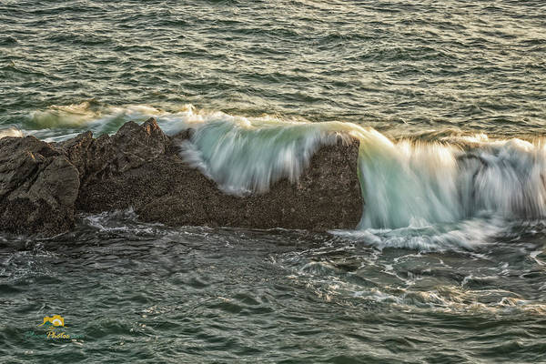 Photograph - The Surf Spilling Over An Obstical by Jim Thompson