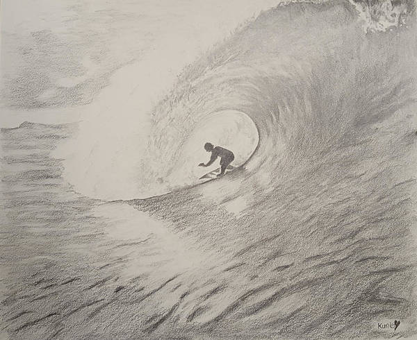 Drawing - The Surfer by Adekunle Ogunade