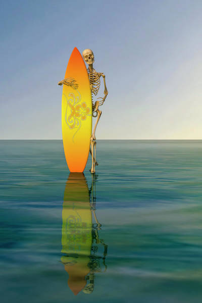 Style Digital Art - The Surfer by Betsy Knapp