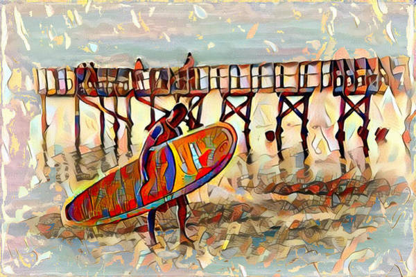 Cannon Beach Painting - The Surfer by Bill Cannon