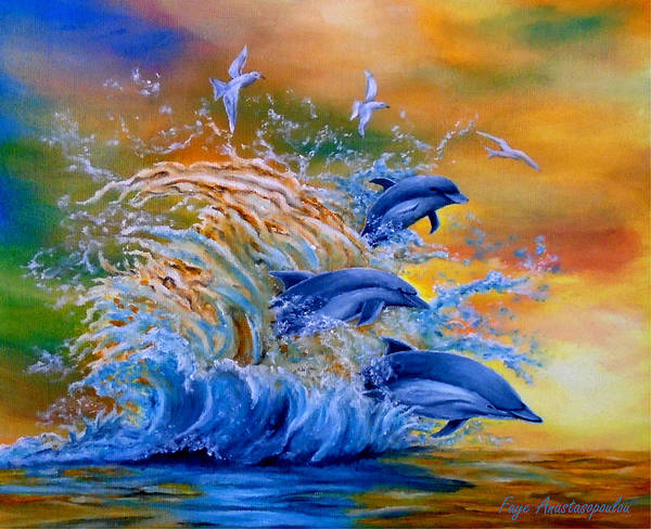 Wall Art - Painting - The Surge by Faye Anastasopoulou