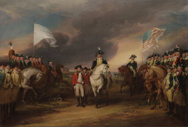 Surrendering Painting - The Surrender Of Lord Cornwallis At Yorktown, Oct 19, 1781 by John Trumbull