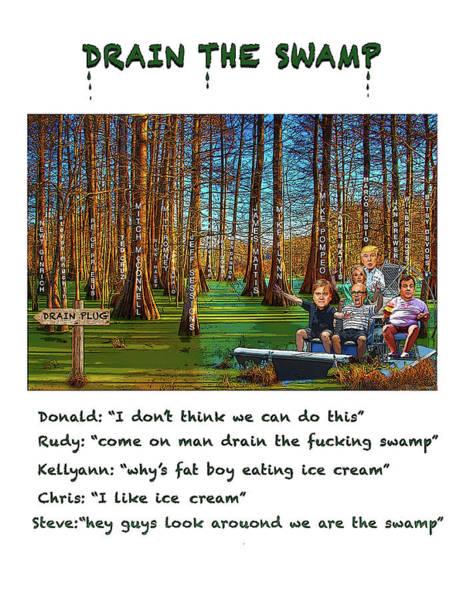 Trump Digital Art - The Swamp by Joe  Palermo