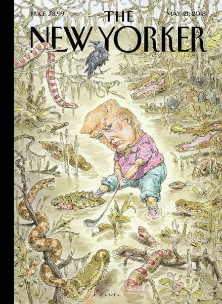 Reptile Drawing - The Swamp by John Cuneo