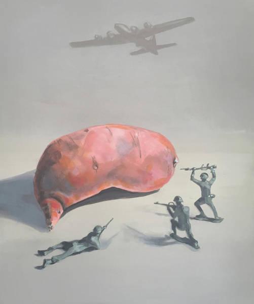 Potato Painting - The Sweet Potato Incident by Jeffrey Bess