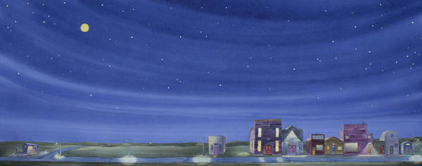 Painting - The Sweetest Little Town In The Prairie II by Scott Kirby