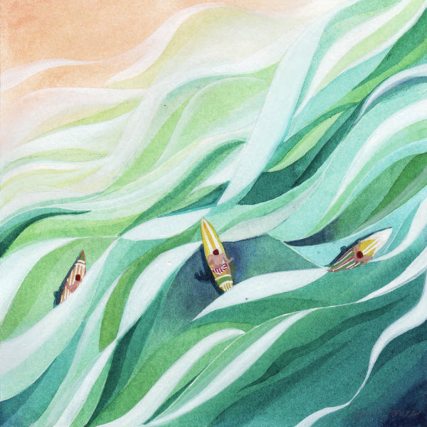 Beach Painting - The Swell by Stephie Jones