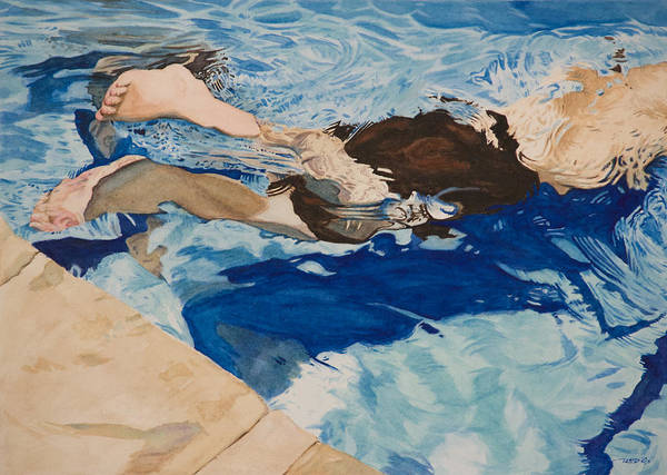 Painting - The Swimmer by Christopher Reid