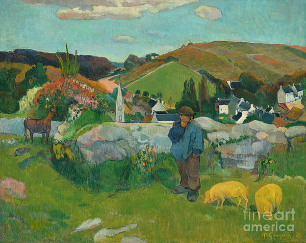 Painting - The Swineherd, 1888 by Paul Gauguin