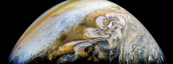 Wall Art - Photograph - The Swirling Cloud Formations Of Jupiter by Nasa
