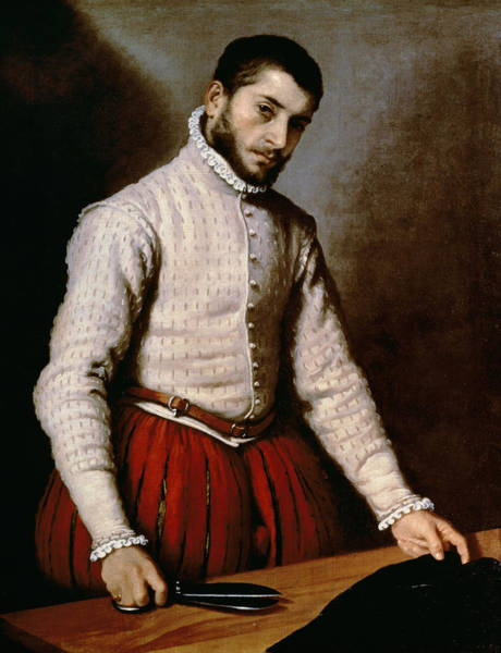 Wall Art - Painting - The Tailor by Giovanni Battista Moroni