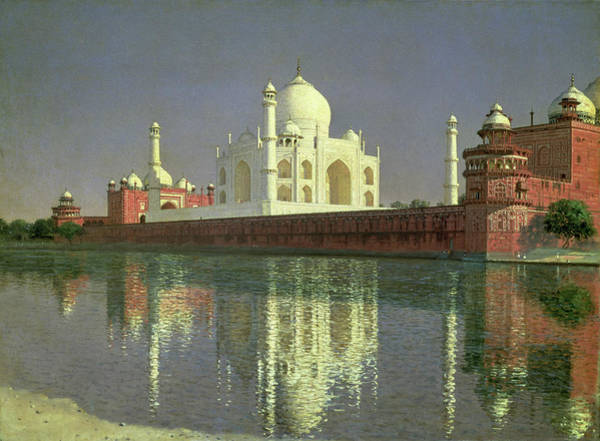 Russian River Painting - The Taj Mahal by Vasily Vereshchagin