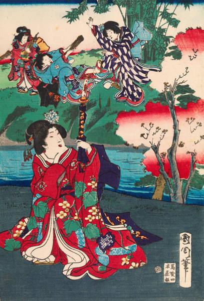 Emperor Of Japan Wall Art - Painting - The Tale Of Genji by Kunichika Toyohara