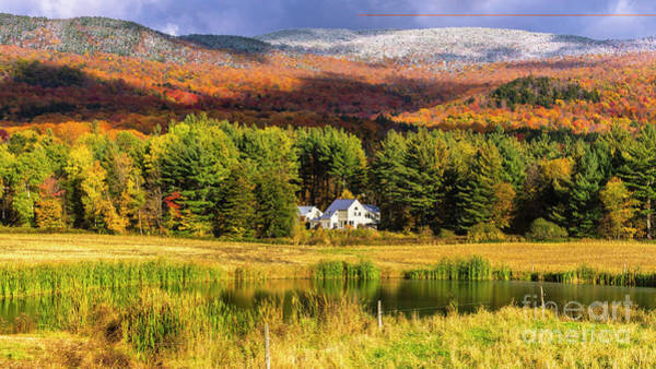 Photograph - The Tale Of Two Seasons. by Scenic Vermont Photography