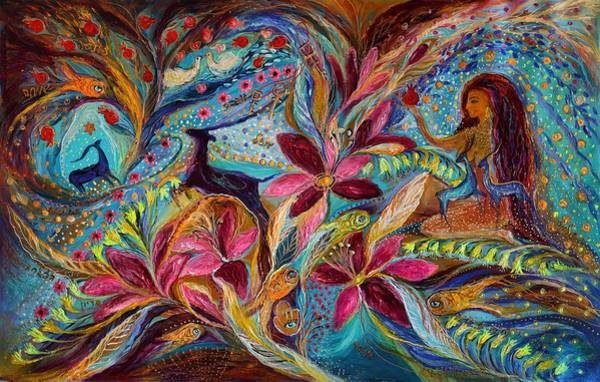 Kabbalistic Wall Art - Painting - The Tales Of One Thousand And One Nights by Elena Kotliarker