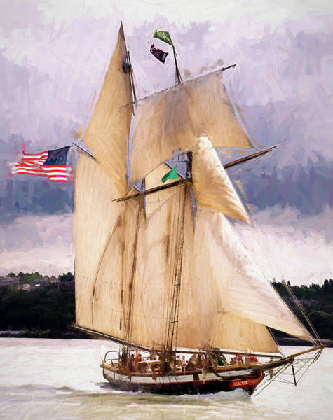 Tacoma Painting - The Tall Ship The Lynx, Fine Art Print by Greg Sigrist