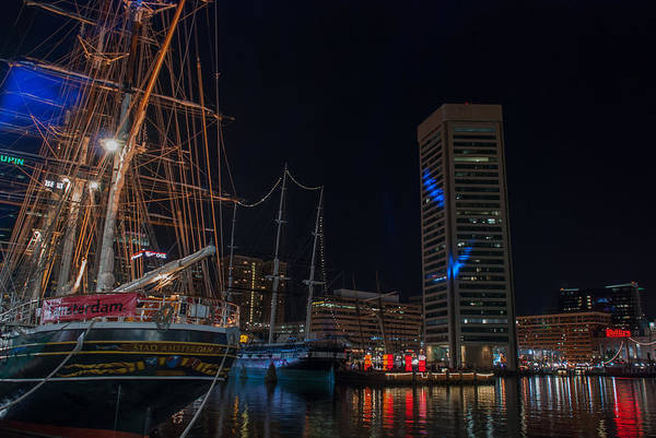 Photograph - The Tall Ships And Lights by Mark Dodd