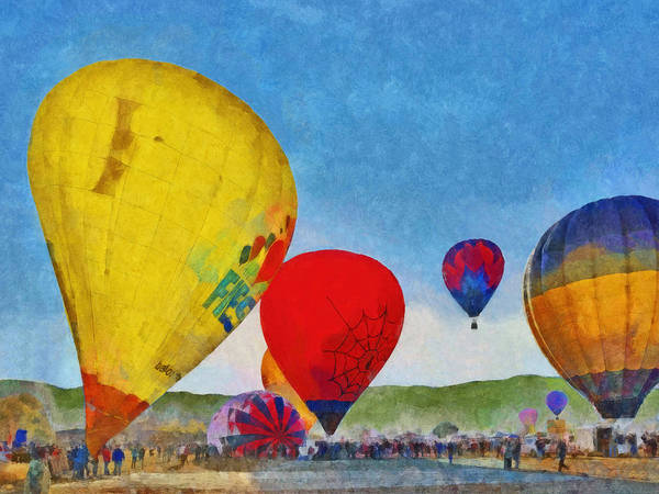 Digital Art - The Taos Mountain Balloon Rally 6 by Digital Photographic Arts