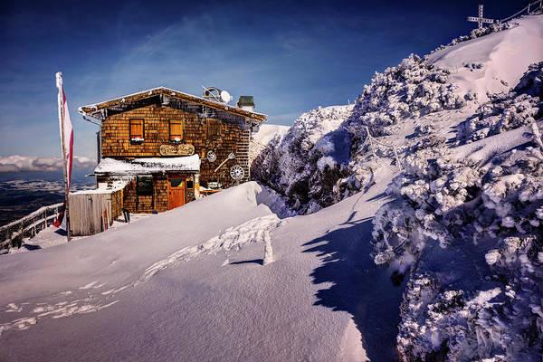 Inn Wall Art - Photograph - The Tavern On Untersberg Mountain Salzburg In Winter by Carol Japp