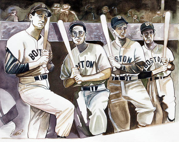 Wall Art - Drawing - The Teammates by Dave Olsen