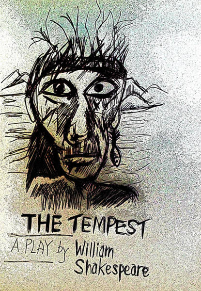Globe Theatre Drawing - The Tempest Poster 2  by Paul Sutcliffe