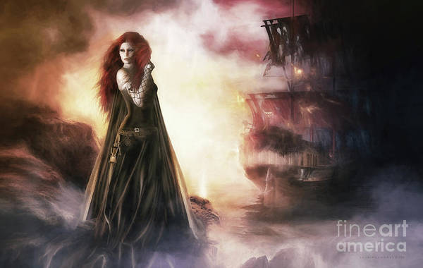 Wall Art - Digital Art - The Tempest by Shanina Conway