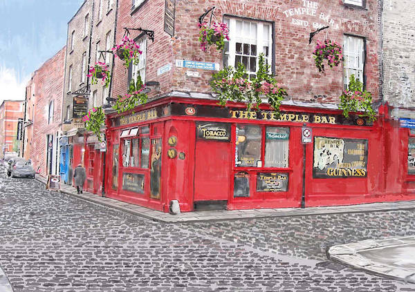 Temple Bar Wall Art - Painting - The Temple Bar Pub by David O Reilly