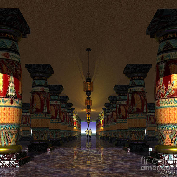 Digital Art - The Temple Of Everlasting Friendship 1 by Walter Neal
