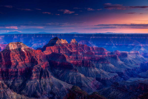 North Rim Photograph - The Temples And Bright Angel Canyon by Dan Holmes