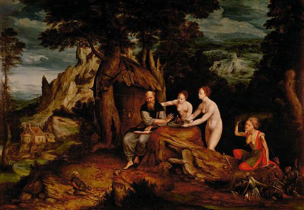 Seductive Painting - The Temptation Of Saint Anthony  by Cornelis Massys