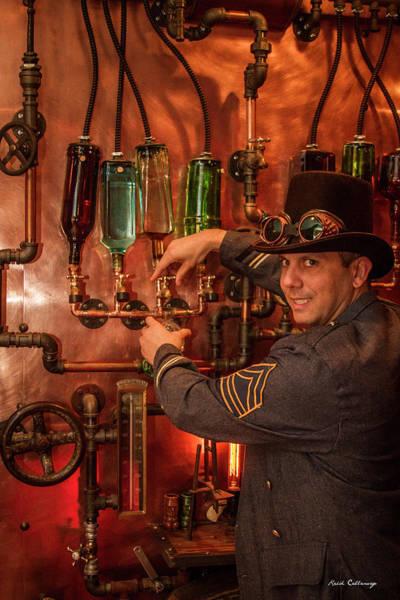 Photograph - The Tender Steampunk Interior Design 7 Atlanta Man Cave Bar Art by Reid Callaway