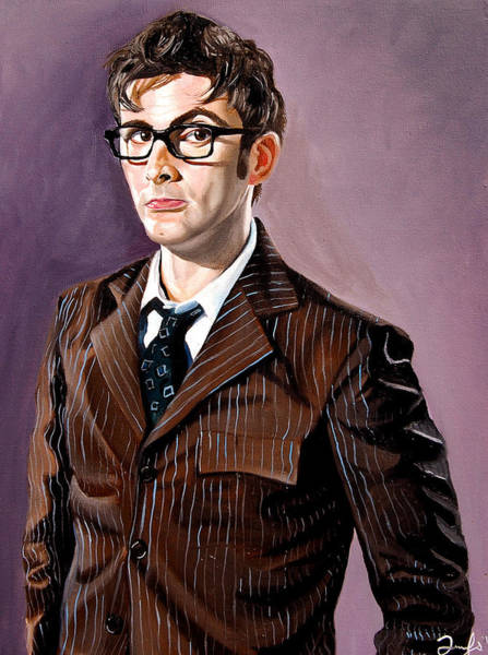 Tool Painting - The Tenth Doctor And His Tardis by Emily Jones